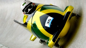 16 Feb 2002:  Winston Alexandr Watt and Lascelles Oneil Brown of Jamaica compete in the men's 2-man